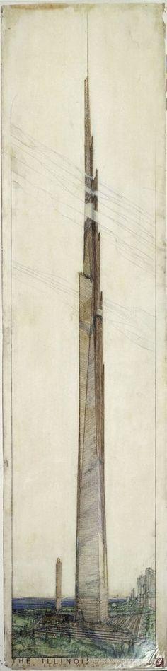 Frank Lloyd Wright - Mile High Illinois Tower