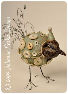 """Crowster Buttonbird"" featured in Prims Magazine, by Johanna Parker..I LOVE this bird!!!"