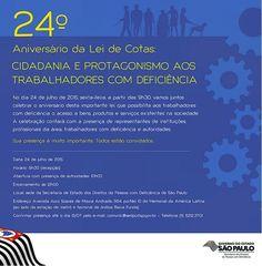 Informação presta: leia os arquivos do blog: CONVITE: 24º aniversário da Lei de Cotas - CIDADAN...