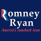 Mitt Romney Paul Ryan 2012 T-Shirt-Blue