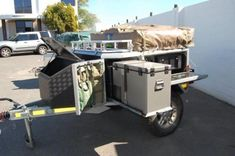 20 Off-Road Camping Trailers Perfect For Your Jeep - decoratoo Trailer Tent, Off Road Camper Trailer, Trailer Diy, Trailer Plans, Trailer Build, Camper Trailers, Travel Trailers, Camper Van, Adventure Trailers
