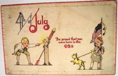 Vintage Postcard - 4th of July