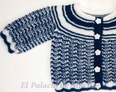 Chaqueta de punto recién nacido. de El Palacio de Martín por DaWanda.com