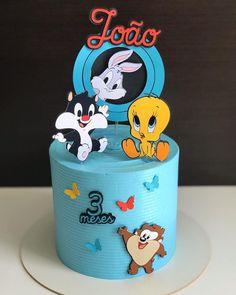 Disney Cake Toppers, Disney Cakes, Beautiful Birthday Cakes, My Birthday Cake, Buttercream Cake, Fondant Cakes, Bolo Mickey Baby, Baby Looney Tunes, Superhero Cake