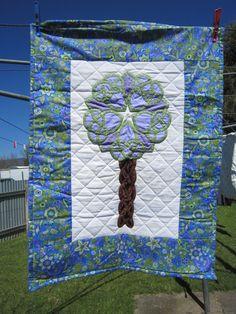 Celtic tree from Kwiltykate - Mini Art Quilt swap 3