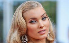 Download wallpapers Elsa Hosk, Victorias Secret, top-models, portrait, Cannes 2017, beauty