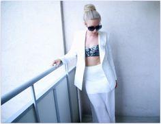 All white & sparkly bra