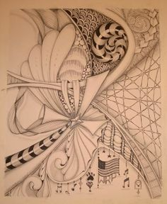 """10"""" x 12"""" arches paper, Micron pen and graphite shading"""