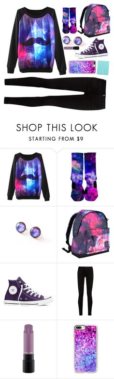 """""""Galaxy 💫"""" by treelights29 ❤ liked on Polyvore featuring Hot Tuna, Converse, Gucci, MAC Cosmetics and Casetify"""