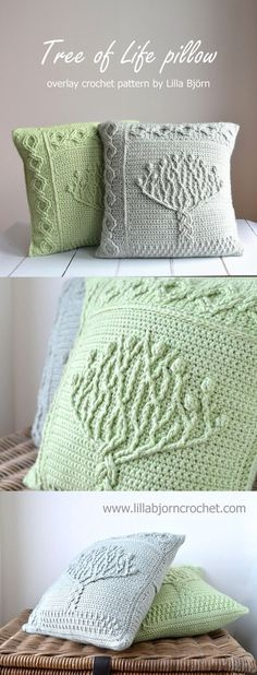 "Tree of Life pillow - overlay crochet pattern by Lilla Bjorn. || Adding to ""CROCHET"" and ""CROCHET; Aran, Cables, etc. ♥️A"