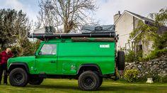 Kermit the Defender Overlanding Machine #camper #landrover
