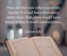 Reflect upon the Quran.