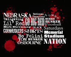 Nebraska Football Word Collage