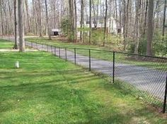 Fascinating 4 Ft Chain Link Fence Completed Chain Link Fences In Richmond Va Gallery Fence Black Chain Link Fence, Chain Fence, Fencing Companies, Iron Wire, Backyard Makeover, Back Gardens, Toronto, Sidewalk, Outdoor Structures