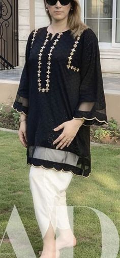 Fancy Dress Design, Girls Frock Design, Stylish Dress Designs, Simple Pakistani Dresses, Pakistani Dress Design, Black Pakistani Dress, Sleeves Designs For Dresses, Dress Neck Designs, Pakistani Fashion Party Wear