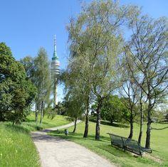 munich   germany   münchen   deutschland   olympiapark   blick auf den fernsehturm
