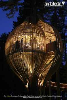 Yellow Tree House Restaurant, New Zealand. If Anthony and I have to do something lame like go to New Zealand for our honeymoon, this will take the edge off.