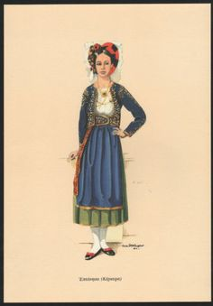 Always, inspect the photos provided to verify quality. Ancient Greek Costumes, Rehearsal Dress, Corfu, Greeks, Folk Costume, Ancient Greece, Vintage Cards, Dance Costumes, Folklore