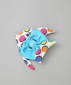 Take a look at this Picture Perfect Hair Bows Blue Polka Dot Fish Clip by Picture Perfect Hair Bows on #zulily today!