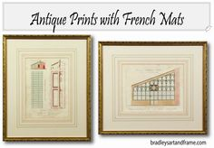 French mats are made using watercolor wash panels and ink lines around the perimeter of a matted piece of art for a truly handcrafted look.