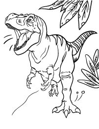 httpColoringToolkitcom Tyrannosaurus Rex Coloring Page