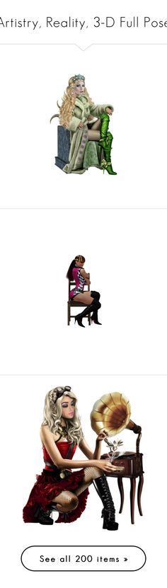 """""""Artistry, Reality, 3-D Full Pose"""" by kristie-miles ❤ liked on Polyvore featuring dolls, fantasy tube, girls, surreal, surrealism girl, people, women, models, females and little people"""