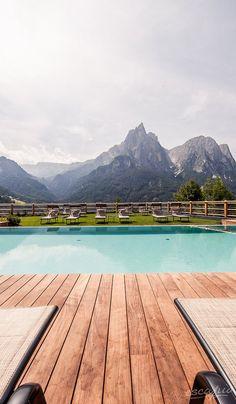 Incredible view! Hotel Sonus Alpis in Castelrotto, Italy - Trentino Alto Adige #travel #italy #fernweh