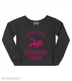 Horizontal Running Team Pink | Not a fan of actual running? That's ok! Grab this shirt and join our horizontal running team! #Skreened