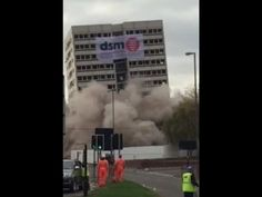 Cornwall Tower in Birmingham flattening video captures dust cloud
