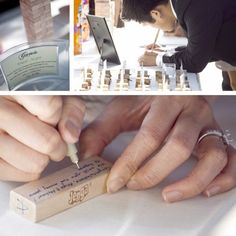 Get a Jenga set & have guest write on them. Use the set for years to come or store & read later.