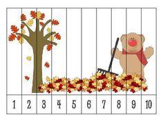 9 Autumn Number Order Puzzles {FREEBIE}