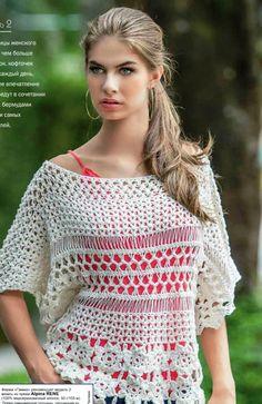 Ivelise Feito à Mão: Blusa de Crochê