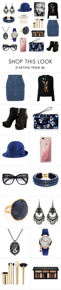 """""""Sem título #1024"""" by amorasilvestre ❤ liked on Polyvore featuring Balmain, Dolce&Gabbana, Kate Spade, Case-Mate, Tom Ford, Only Child, NAKAMOL, Free Press, Vivienne Westwood and tarte"""