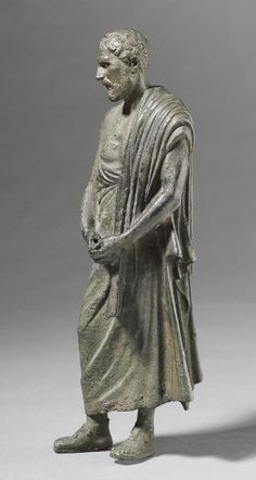 Portrait Statuette of the Greek Orator Demosthenes (early Roman copy of bronze portrait statue), 100 BC-100 ADSculpture, StatuetteGraeco-Roman, 1st century BC-2nd century AD  Roman period, Early to Middle Imperial, c. 31 BC-AD 235