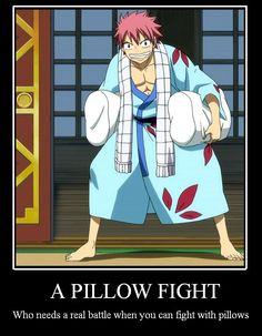 Fairy Tail Motivational: Pillow Fight by TheMJE.deviantart.com on @deviantART
