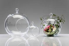 Üveg akasztós gömb 16,5x15x13,5cm átlátszó