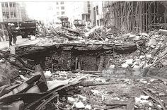 CONTENT] This photo is taken in the days after the 1993 IRA bomb in Bishopsgate in the City of London. This caused extensive damage with major rebuilding required.