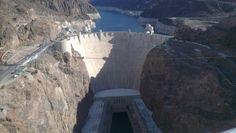 Udsigt til Hoover Dam fra den 'nye' high way bro
