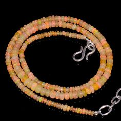 "32CRTS 2.5to4.5MM 18"" ETHIOPIAN OPAL RONDELLE BEAUTIFUL BEADS NECKLACE OBI3128 #OPALBEADSINDIA"