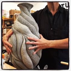 Getting a jump on some large work for the @pmacraftshow in #philadelphia this November 10-14! LOTS OF DRYING TIME! #finecraft #oneofakindart #pottery #ceramics #handcrafted #art #artbyhand #madebyhand...