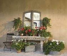 french country courtyard - Google Search