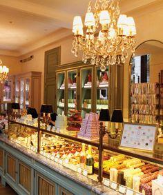 Iconic French patisserie Ladurée...been here! ladure, patisserie shop, chocolate shop, champ, bakeri, icon french, patisseri laduré, paris patisserie, french patisserie