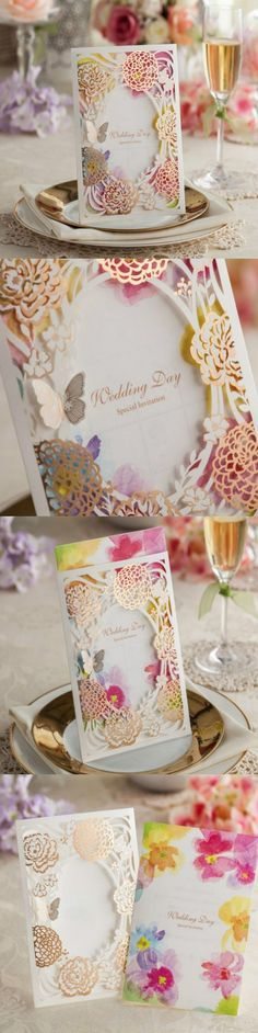 Luxurious Laser Cut Wedding Favor Box CB065 Matching with Invitation CW065 Free Shipping