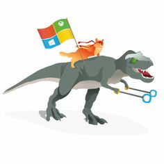 Windows ninja cat GIF