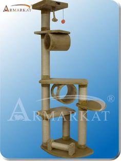 Armarkat A7463A Beige Cat Condo Pet Furniture 9 Level Tower | eBay