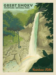Anderson Design Group – American National Parks – Great Smoky Mountains National Park: Rainbow Falls