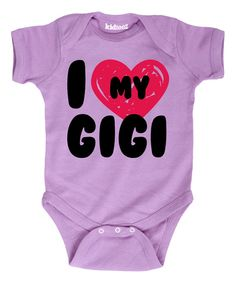 Look what I found on #zulily! Lavender 'I Love My Gigi' Bodysuit - Infant by It's Just Me #zulilyfinds