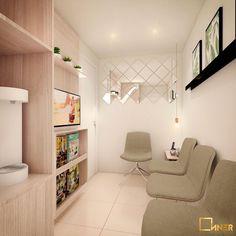 CONSULTÓRIO | Mais lugares para sentar e um toque de minimalismo para dar uma nova cara para essa sala de espera do consultório www.innerstudio.com.br