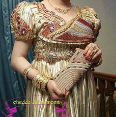 Mensouj, Dress made with gold fabric for the Bride