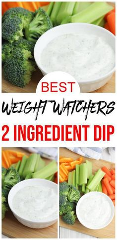 Check out these Weight Watchers Ranch Dip with Smartpoints! Easy 2 ingredient WW appetizers, WW snacks or Weight Watchers salad dressing. Simple & quick Weight Watchers recipe for the best ranch dip / ranch dressing with Greek yogurt. Weight Watchers Snacks, Weight Watchers Salat, Weight Watcher Recipes, Weight Watchers Sides, Healthy Dip Recipes, Healthy Dips, Ww Recipes, Healthy Veggie Snacks, Vegetable Dip Healthy